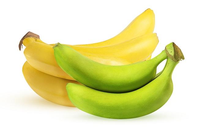 Yellow-and-Green-Bananas